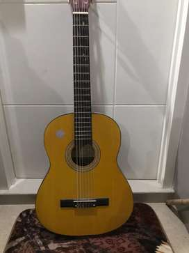 Jual gitar Akustik murah cakep bagus warna coklat senar baru siap pake