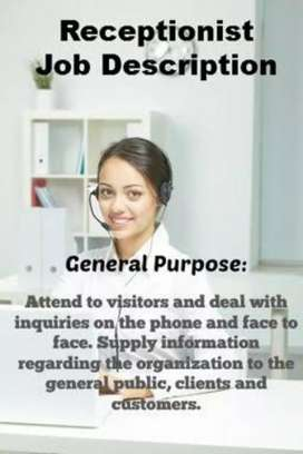 Receptionist required for MNC company