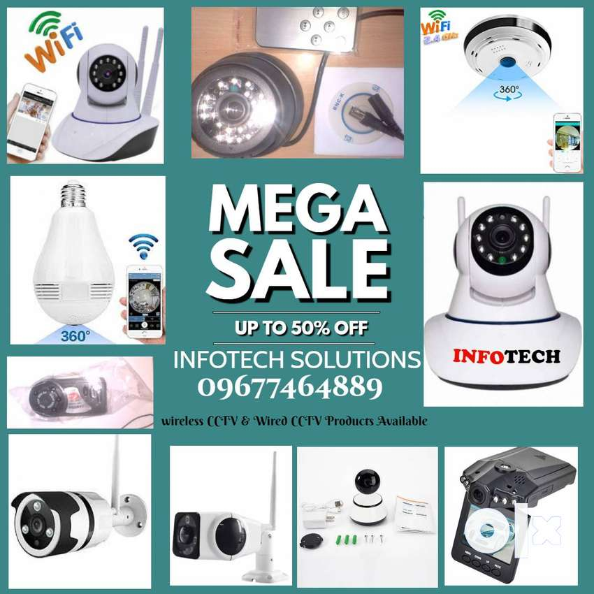 All Wifi CCTV- Dome Camera, Bullet Camera Bulb Camera Fish Eye Cameras 0