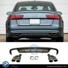 Audi A6 S line diffuser with tips