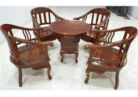 Meja  kursi cantik  ruang tamu.. Bahan  kayu  jati