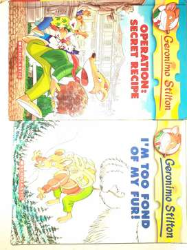 2 Geronimo stilton books.not at all used.*combo offer