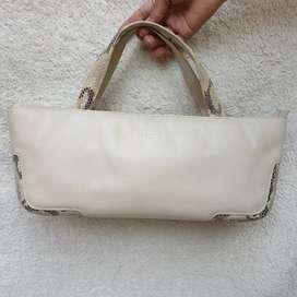 Renoma Paris cream kulit asli hand bag