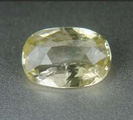 Yellow sapphire safir ceylon 2.19ct unheated clean cystal full luster