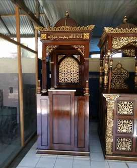 mimbar masjid kayu jati murah meriah