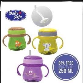Baby Safe Cup Weighted Straw Gelas Cangkir Minum Anak JP019