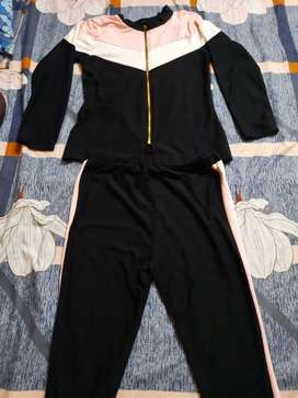 Tracksuit( pink and  black and for women)