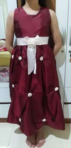 Dress princess maroon