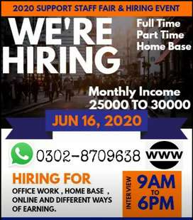 Part time, full time,home based (Students and teachers)Male and female