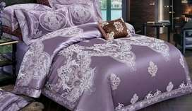 Bedcover set sutra import mewah berbagai moyif dan ukuran