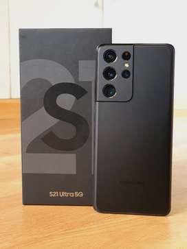Samsung S21ultra 12Gb/256Gb box fullkit Warranty upto April 2022 bill