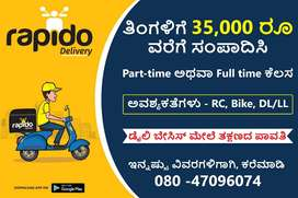 """Immediate Hiring In Rapido Food Delivery Executive"""