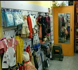 Readymade Clothes Shop for Rent