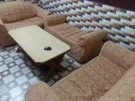 6 seater sofa with table