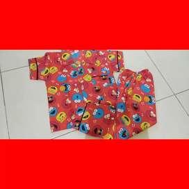 Piyama anak motif elmo merah
