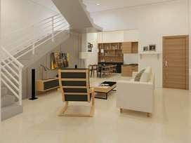 Set Ruang Keluarga dan Ruang Dapur