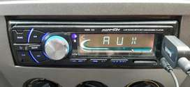 Car stereo system with bass tube and LCD display and 2 speakers