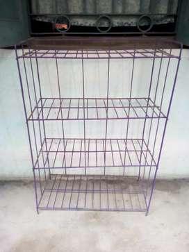 Violet colour four steps iron rack