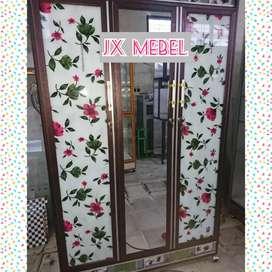 JX MEBEL Lemari Aluminium 3 Pintu Pku