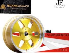 READY R17 Velg MAE JFLUXURY 4Hole Lebar 8-9 Polish Gold
