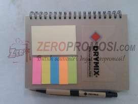 Souvenir kantor memo craft recycle untuk promosi termurah