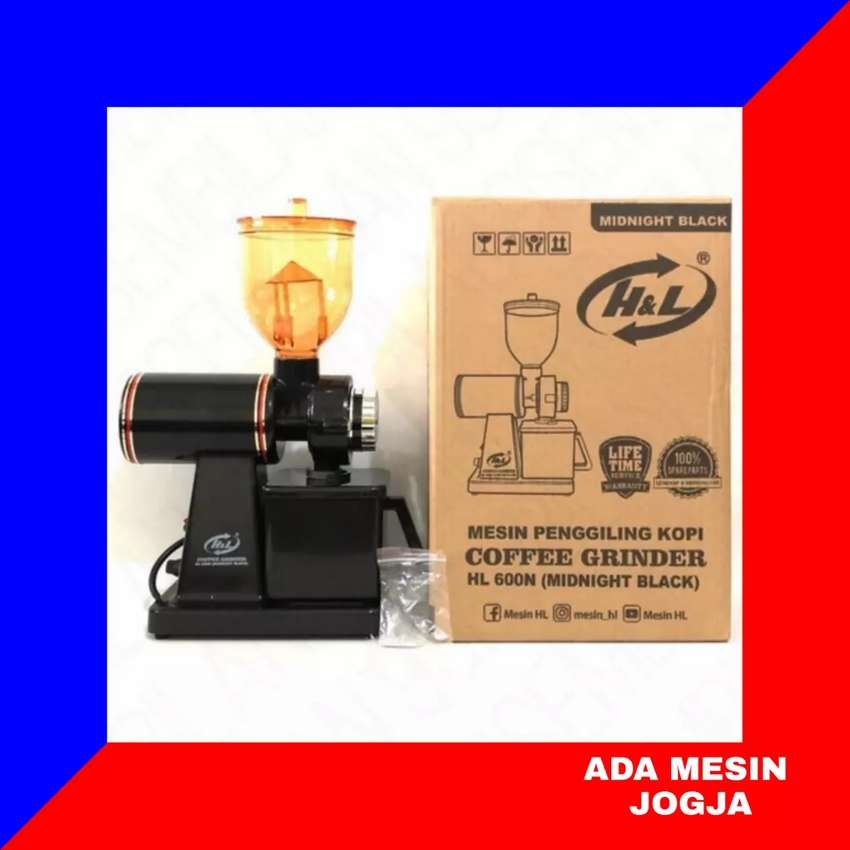 Coffee Grinder Mesin Penggiling Kopi Listrik H&L HL 600 N Black 0