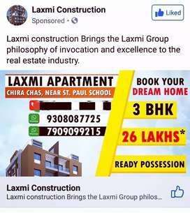 Welcome to Laxmi Construction in Bokaro Ready 3BHK Flats For sell