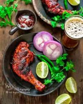 Indian chainees tandoori chicken food