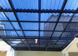 Kami bengkel las nerimah pemasangan kanopi atap solartap $$1252