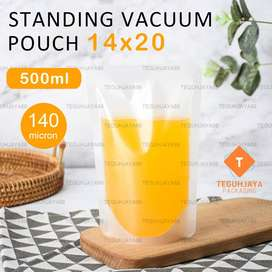 Plastik Vacuum Vacum Standing Pouch Cair Minyak Goreng