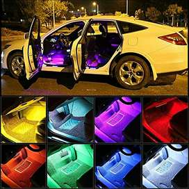 led rgb kolong jok dashboard mobil neon remote control musik interior