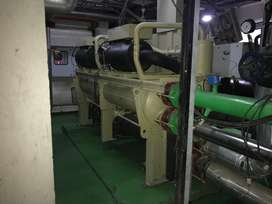 used chiller available 250 ton,kirloskar,less used,working conditio