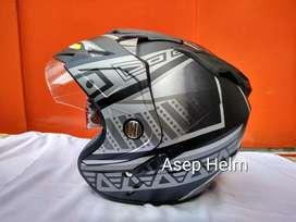 Double Visor  Helm Model Batik 2 kaca Bisa diantar bayar ditempat