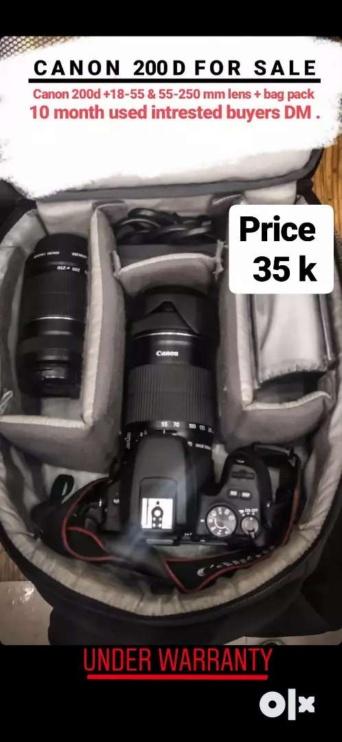Canon 200D with single lens Fix Price Best Condition 0