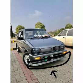 mehran front and back bumper lips or pati for sports look