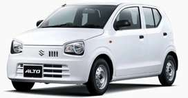 Car for rent with or without driver alto 2021 model white colour