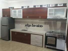 Kitchenset dapur, model lurus laci Box