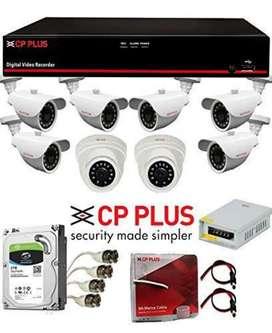 CCTV Camera Set CP Plus Brand 2Dome+2Bullet+4Ch DVR