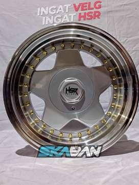 jual velg racing hsr wheel ring 16x8/9 h8(100/114,3) type aachen