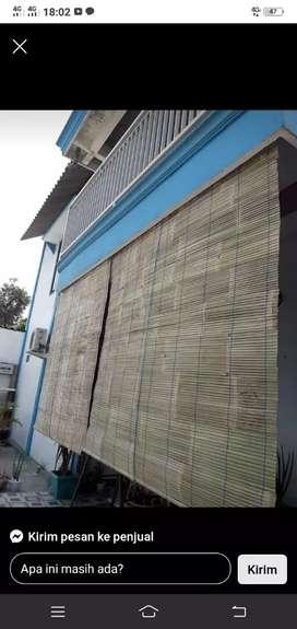 Tirai bambu bambu jawa