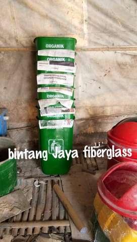 tempat sampah fiber,tong sampah bak sampah oval hijau 50ltr new