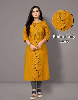 EMBROIDERED KURTI WOMEN | FREE DELIVERY AND COD AVAILABLE |