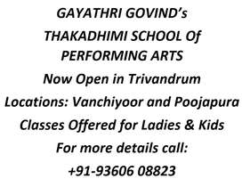 GAYATHRI GOVIND's THAKADHIMI SCHOOL OF PERFORMING ARTS