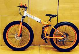 BMW Fat Tyre Foldable Cycle with 21 Shimano Gears and Dual Disc Break