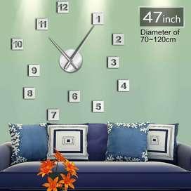 Jam Dinding Besar DIY Giant Clock 120cm Square Number DIY-224