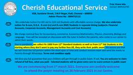Tuition taken for classes 11th 12th std student at affordable fees