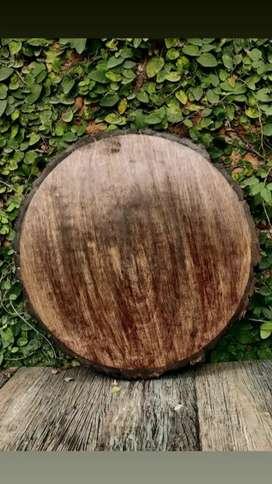 Natural wood slice for decorating
