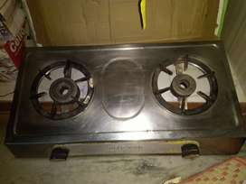 Gas stove with 2 burner