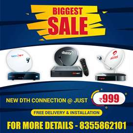 SALE TATA SKY DISH TV AIRTEL HD SD CONNECTION 1 day Delivery Install!!