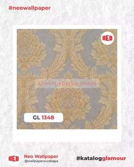 Promo Wallpaper dinding vinyl tekstur timbul awet murah
